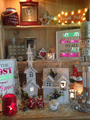 Large Wooden House Christmas Decoration - Model Christmas House Decorated With Snow